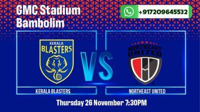 Kerala Blasters vs NorthEast United FC Betting Tips & Predictions