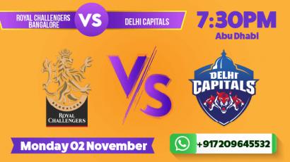 Delhi Capitals v Royal Challengers Bangalore Betting Tips & Predictions Novemeber 2 2020