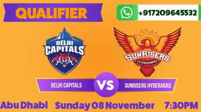 IPL Qualifier 2020: Delhi Capitals vs Sunrisers Hyderabad Betting Tips & Predictions