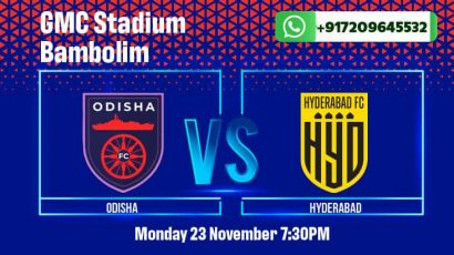 Odisha will play Hyderabad in the ISL on Monday. Get betting tips, match odds, and predictions here