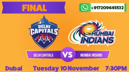 IPL Final: Mumbai Indians vs Delhi Capitals Betting Tips & Predictions November 10th 2020