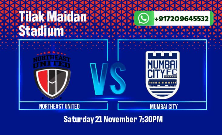 NorthEast United FC will play Mumbai City FC in their opening match of the ISL 2020-21. Get betting tips and match odds here