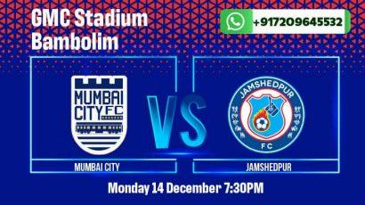 Mumbai City vs Jamshedpur FC Betting Tips and Predictions