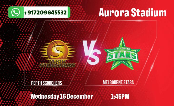 Perth Scorchers v Melbourne StarsBetting Tips & Predictions December 16th 2020