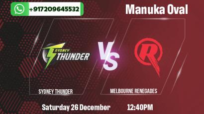 Sydney Thunder v Melbourne Renegades Betting Tips & Predictions
