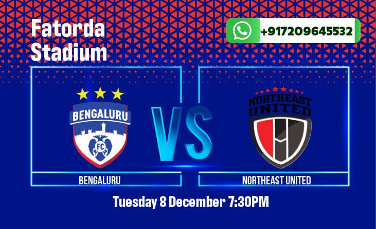 Bengaluru FC vs NorthEast United ISL betting tips with match odds, preview, predictions