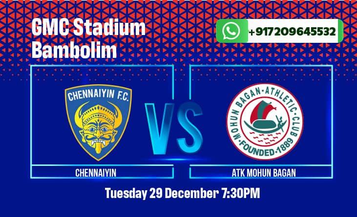 Chennaiyin FC vs ATK Mohun Bagan ISL Betting Tips & Predictions