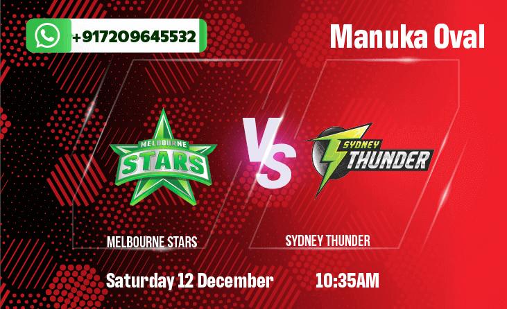 Melbourne Stars vs Sydney ThunderBetting Tips & Predictions December 12th 2020