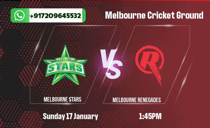 Melbourne Stars v Melbourne Renegades Betting Tips & Predictions
