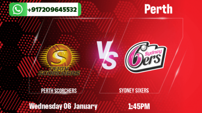 Perth Scorchers v Sydney Sixers Betting Tips & Predictions