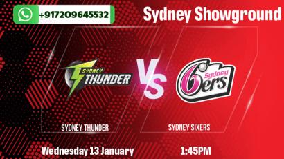 Sydney Thunder v Sydney Sixers Betting Tips & Predictions