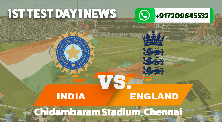 India vs England First Test Day One News