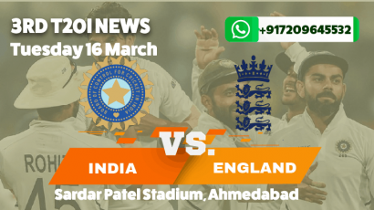 India lose third T20I to England by 8 wickets