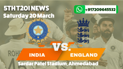 India lose to England in the final T20I to win the Series 3-2