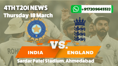 India beat England by 4 wickets in the fourth T20I to level the series 2-2