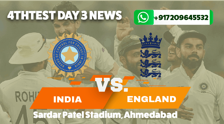 India vs England Test 4 day 3