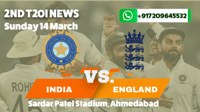India beat England by 7 wickets in the second T20I in Ahmedabad.