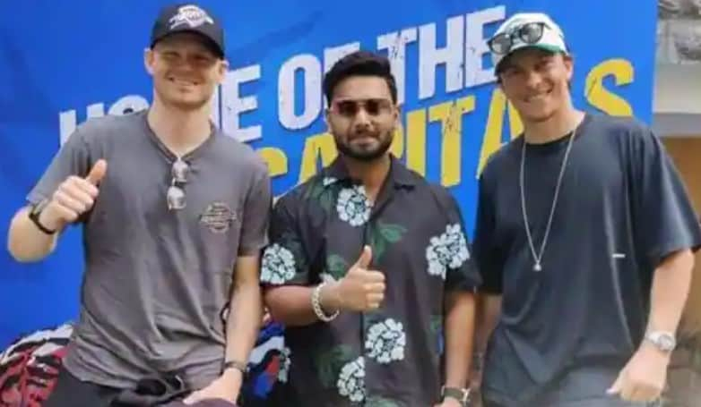 Pant, Curran and Billings posing together