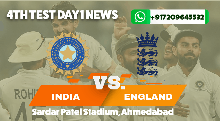 India look in control in the final test in Ahmedabad against England