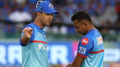 Shaw and Ponting playing for Delhi Capitals