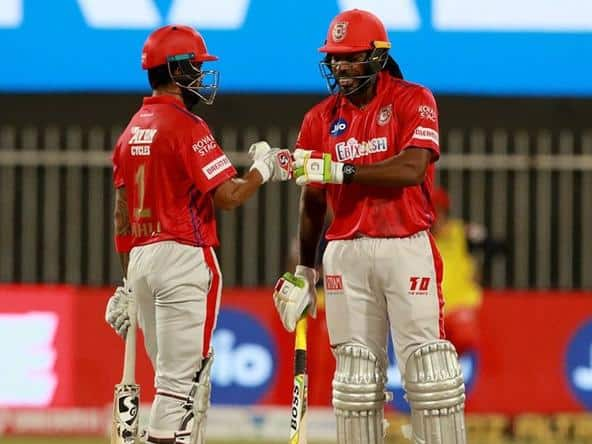 Gayle and KL Rahul guided PBKS to a 9-wicket win over Mumbai Indians.